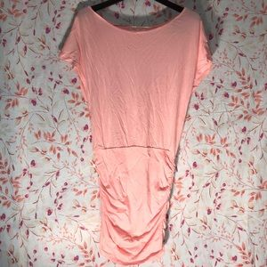 Victoria's Secret Baby Pink Ruched Dress XS